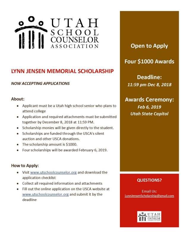 Lynn Jensen Scholarship flyer