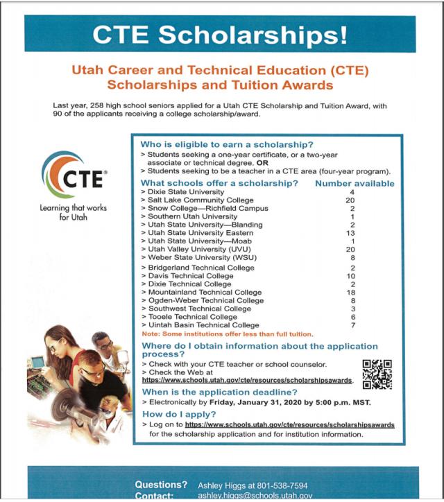 CTE Scholarship 2019
