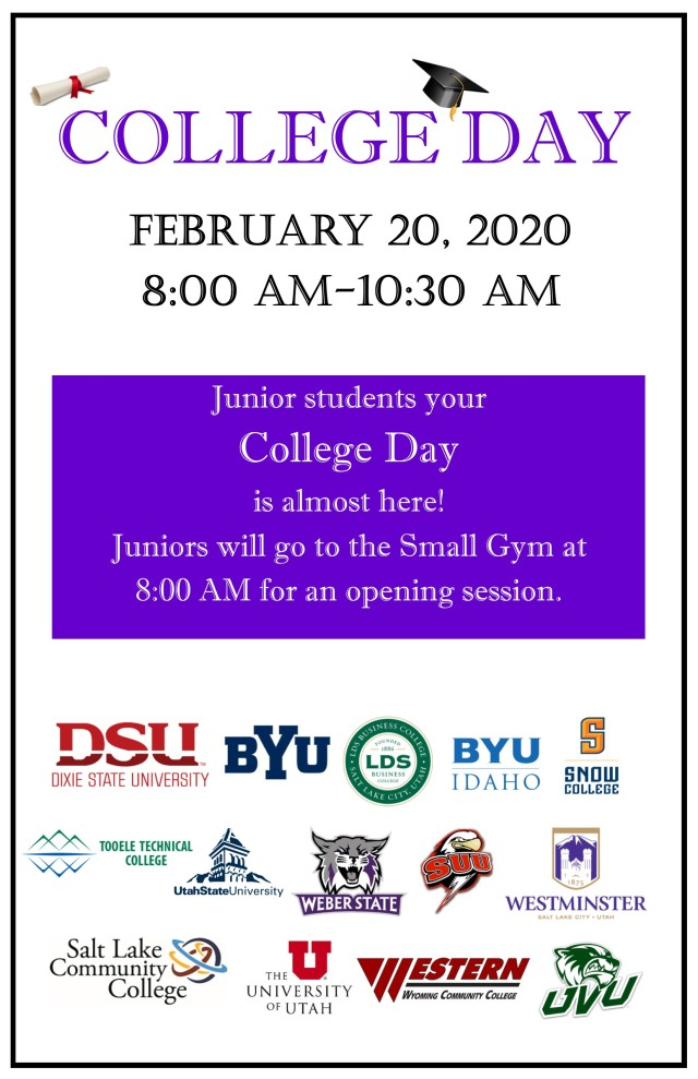 College Day flyer 2020 pic
